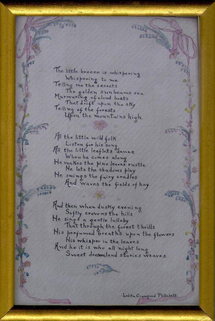 poem indicates it won an award in the denver woman s club ...